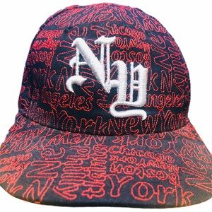 NY New York fitted hat cap lid 7 1/2 Mack pro